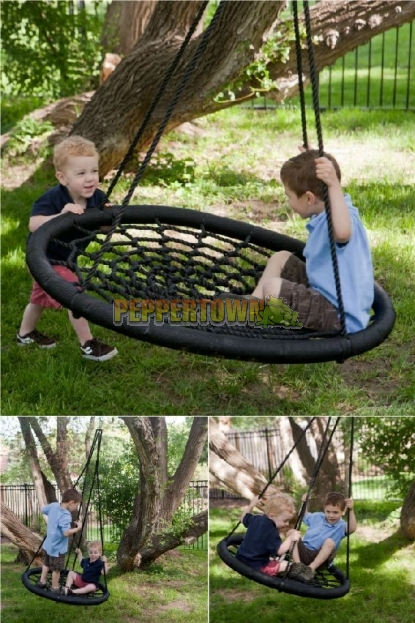 Adjustable 100cm Web Swing Outdoor By Peppertown