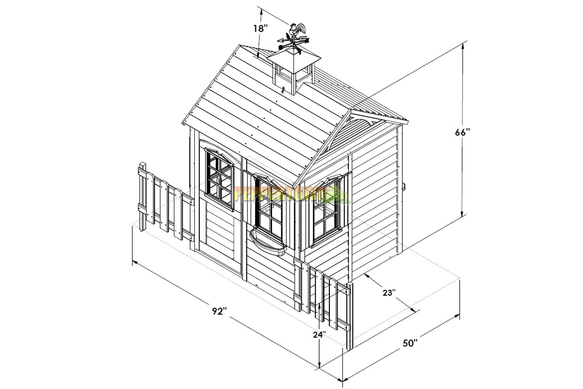 Ordinaire Big Backyard Bayberry Ready To Assemble Wooden Playhouse   By PEPPERTOWN  Online Store