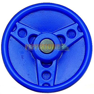 Solid Plastic Steering Wheel Bugatti Blue By Peppertown