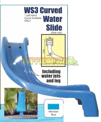 Pool slide hook up