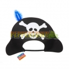 Foam Pirate Hat with Feather