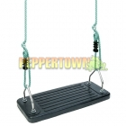 Rubber Junior Safety Swing on Adjustable ropes- BLACK