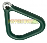 Plastic Coated Aluminium Grips TRIANGLE- Green (each)
