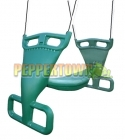 Back to Back Cubby House Swing GREEN