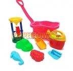 Wagon and Sand Toy Set - Pink