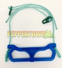 Plastic Trapeze Swing on Rope - Blue