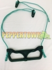 Plastic Trapeze Swing on Rope - Green