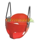 Cubby House Full Bucket Swing - Red