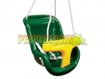 High Back Plastic Seat- Green