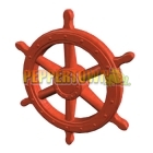 Giant Pirate Ship Wheel- RED