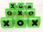 Naughts and Crosses Block - Lime Green (each)