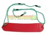 Moulded Swing Seat on Adjustable Ropes- Red