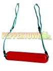 Ribbed Strap Seat on Adjustable Ropes- RED
