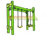 Monkey Bar and Double Swing Playground Kit