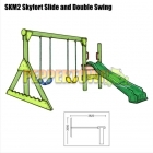 Skyfort Slide and Double Swing Kit