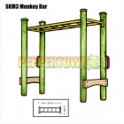 SKM3 2m Monkey Bar (Yellow)