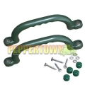Short Playground Handles- GREEN  (pair)