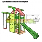 Skyfort SideClimber with TWS slide and Sleep-Out