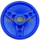 Solid Plastic Steering Wheel- Bugatti Blue