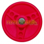 Solid Plastic Steering Wheel- Ferrari Red