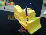 Bull Dozer Spring Rocker- Yellow