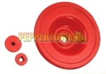 Aluminium Offset Steering Wheel- RED
