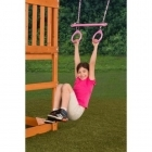 Pink Trapeze with Rings on coated chains