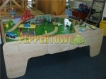 Wooden Train Sets and Tables
